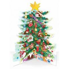 3D adventskalender A3 - kerstboom met dieren