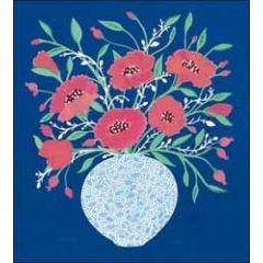 bloemenkaart woodmansterne - bos bloemen op vaas