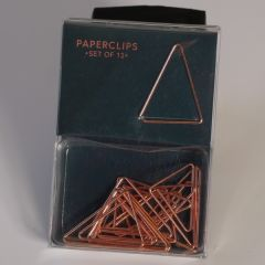12 paperclips driehoek - midnight gold