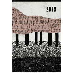 2019 mini of kleine zakagenda  - geometrische bomen