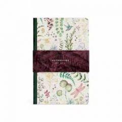 3 notitieboekjes A6 botanic