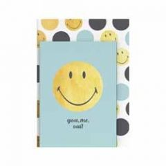 2 notitieboekjes smiley