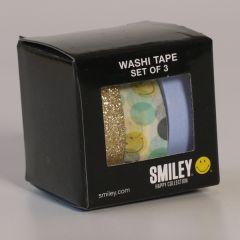 3 rollen washi tape - smiley