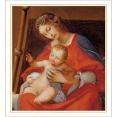 5 christelijke kerstkaarten woodmansterne - moeder en kind