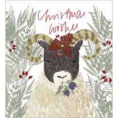 5 kerstkaarten woodmansterne - christmas wishes - schaap