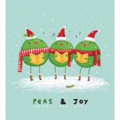 5 kerstkaarten woodmansterne - peas joy - erwten