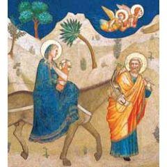 5 christelijke kerstkaarten woodmansterne - vlucht naar egypte