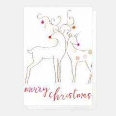 5 kerstkaartjes caroline gardner - merry christmas - herten