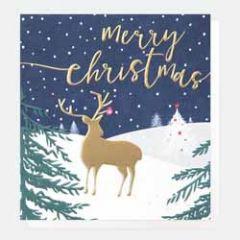 5 luxe kerstkaarten caroline gardner - merry christmas - hert