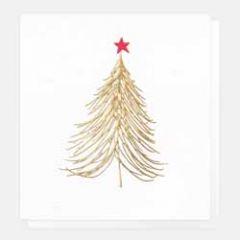 5 luxe kerstkaarten caroline gardner - kerstboom goud rood
