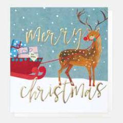 5 luxe kerstkaarten caroline gardner - merry christmas - rendier