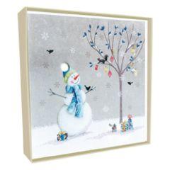 5 luxe kerstkaarten second nature - sneeuwpop