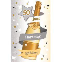 50 jaar - felicitatiekaart - hartelijk gefeliciteerd - champagne