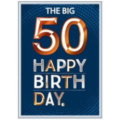 50 jaar verjaardagskaart copper - the big 50 happy birthday