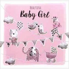 grote luxe geboortekaart - beautiful baby girl