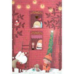 6 kinderkerstkaarten busquets - kerstman