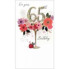65 jaar - grote luxe verjaardagskaart - on your 65th birthday