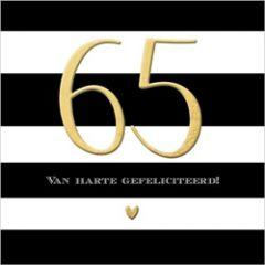 65 jaar - verjaardagskaart - van harte gefeliciteerd!