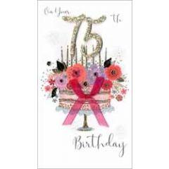 75 jaar - grote luxe verjaardagskaart - on your 75th birthday