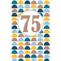 75 jaar - verjaardagskaart lucky numbers