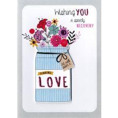 beterschapskaart - wishing you a speedy recovery - bloemen