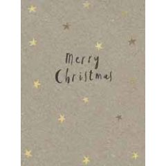 8 kerstkaartjes piano - merry christmas - sterren