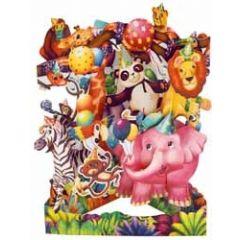 3D kaart - swing cards - circus dieren