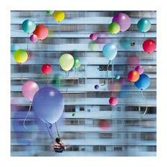 vierkante ansichtkaart met envelop - maïlo - ballonnen