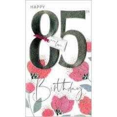 85 jaar - grote luxe verjaardagskaart - happy 85th birthday