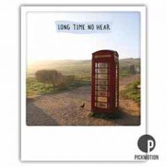 ansichtkaart instagram  - long time no hear - telefooncel