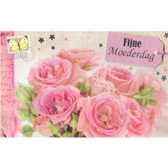 moederdagkaart - fijne moederdag - roze rozen