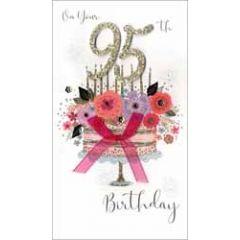 95 jaar - grote luxe verjaardagskaart - on your 95th birthday