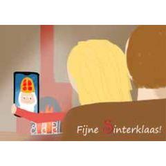 sinterklaaskaart - ansichtkaart - fijne sinterklaas! - mobiel