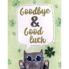 grote afscheidskaart A4 - goodbye good luck
