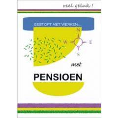 grote kaart A4 - met pensioen gestopt met werken