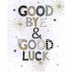 grote wenskaart A4 afscheid - good bye and good luck