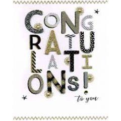 grote wenskaart A4 felicitatie - congratulations to you