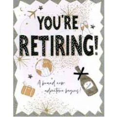 grote wenskaart A4 pensioen - you re retiring a brand new adventure begins!