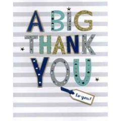 grote wenskaart A4 - a big thank you to you