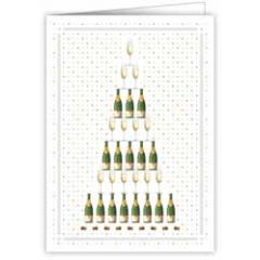 felicitatiekaart A4 - champagne