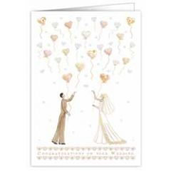 trouwkaart A4 - congratulations on your wedding