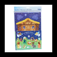 adventskalender A4+  met envelop - kerststal met stickers
