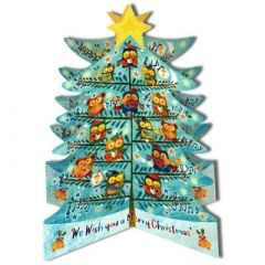 3D adventskalender A3 - kerstboom uilen