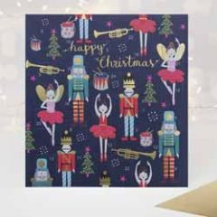 adventskalender kaart met envelop - caroline gardner - happy christmas - notenkraker