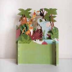 3d pop up kinderkaart - jungle