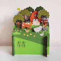 3d pop up kinderkaart - boerderij