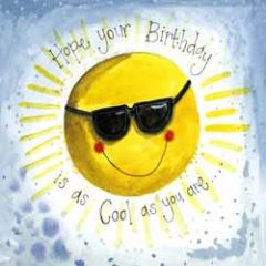 wenskaart alex clark - hope your birthday is as cool as you are - zon
