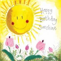 wenskaart alex clark - happy birthday sunshine - zon