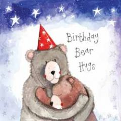 wenskaart alex clark - birthday bear hugs - beren