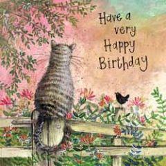 verjaardagskaart alex clark - have a very happy birthday - kat